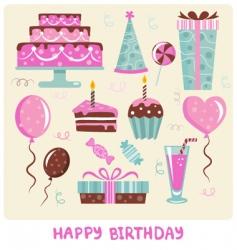 Birthday cakes vector
