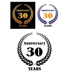 Anniversary jubilee symbol with laurel wreth vector