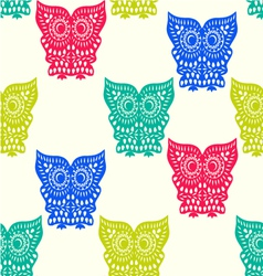 Pattern of cute owl pattern seamless vector