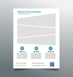 Corporate business flyer template - light design vector