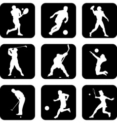 Ball sport icons vector