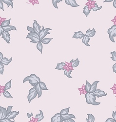Cute flower vintage seamless background vector