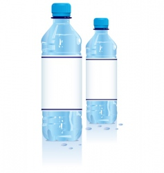 Plastic water bottles vector