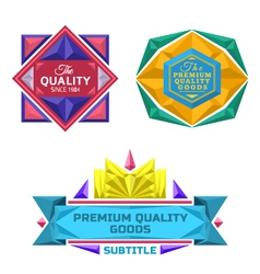 Set of retro badge jewel labels and logo vector