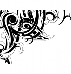 Tribal curves vector