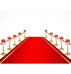 A red carpet and velvet rope vector