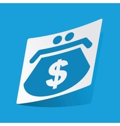 Dollar purse sticker vector