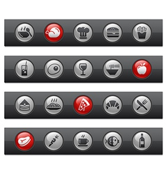 Food 1 buttons vector