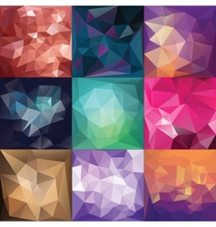 Polygonal geometric backgrounds vector