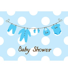 Baby shower boy vector