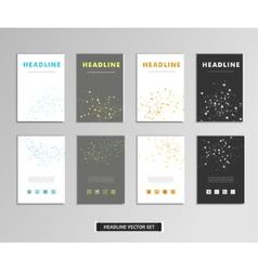 Set of artwork with molecular background vector