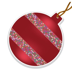 Christmas ball with beads on white background vector