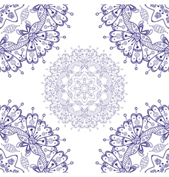 Abstract mandala style lace doily vector
