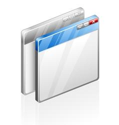 Computer windows vector