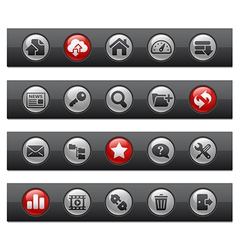 Hosting buttons vector