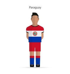 Paraguay football player soccer uniform vector