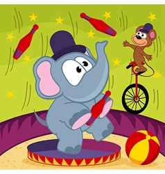 Elephant and mouse circus vector
