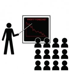 Profit forecast down vector
