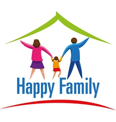 Happy family icon or logo vector