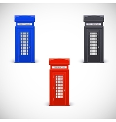 Colored telephone booths londone style vector