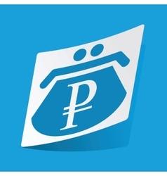 Ruble purse sticker vector