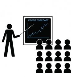 Profit forecast up vector