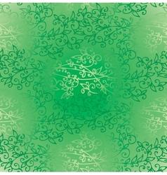 Floral green verdure springtime seamless pattern vector