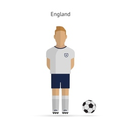 National football player england soccer team vector
