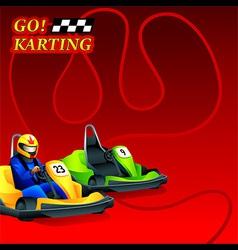 Go karting poster vector