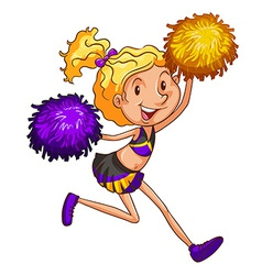 An energetic cheerleader vector