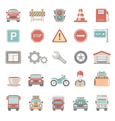 Flat icons traffic vector