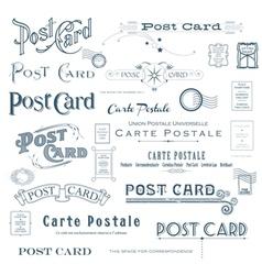 Postcard design elements vector