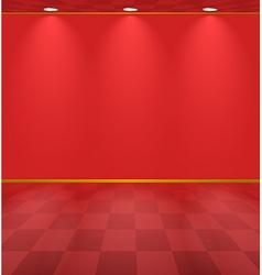 Red lightened room vector