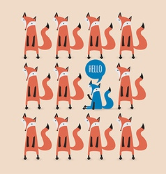 Card with foxes be unique vector
