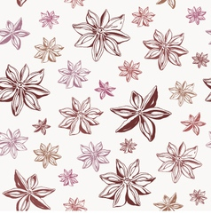 Star anise seamless pattern vector