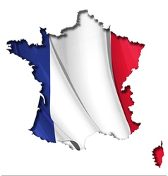 French map flag vector