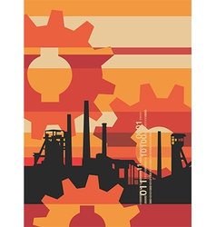 Industry factory background vector