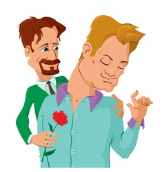 Gays couple vector