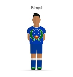 Pohnpei football player soccer uniform vector