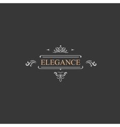 Vintage retro label and luxury logo restaurant vector