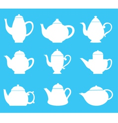 Tea pot silhouette vector