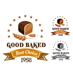 Rye bread banner or label vector