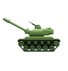 Military tank isolated vector