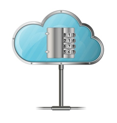 Security cloud computing concept vector