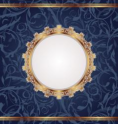 Golden retro frame seamless floral texture vector