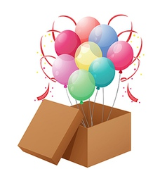 Balloons in the box vector