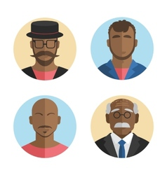Flat design african american men vector