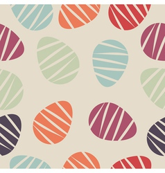 Seamless pattern with colorful easter eggs vector