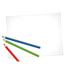 Pencils and paper vector