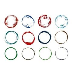Grunge round imprints vector